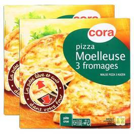Pizza aux 3 fromages,CORA,lot de 2x