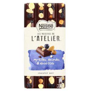 Les Recettes de l'Atelier Chocolat noir myrtilles amandes et noisettes