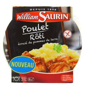 william saurin poulet r ti et cras de pommes de terre sans gluten 300g. Black Bedroom Furniture Sets. Home Design Ideas