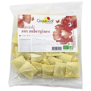 Coquelicot Provence Ravioli aux aubergines Bio