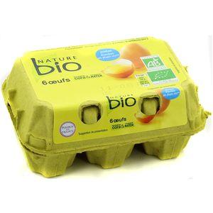 Nature Bio Oeufs calibre moyen, Bio
