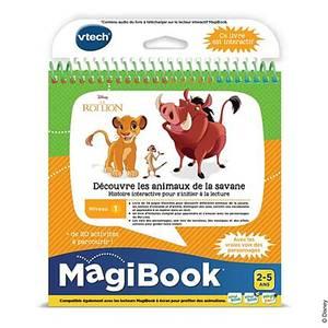 Vtech Magibook- Livre éducatif Le Roi Lion - Découvre les animaux de la savane
