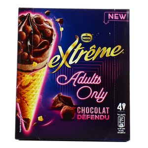 Extrême 4 Cônes glacés Adults Only- Chocolat Défendu 4x100ml