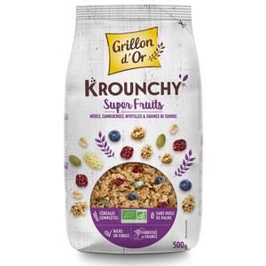 Grillon Or Mes krounchy super fruits bio mûres, canneberge, myrtille et graines de courge