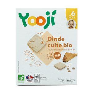 Yooji Dinde bio hachée, cuite et surgelée en galets dès 6 mois