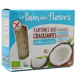Le pain des fleurs Tartines Craquantes Bio à la  Noix de Coco