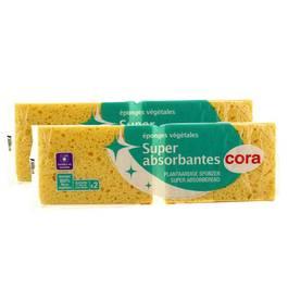 Cora Eponges végétales super absorbantes