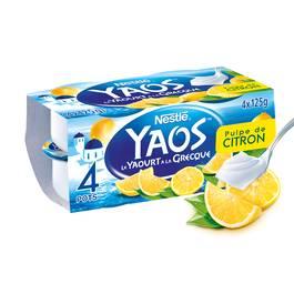 Nestlé Yaos Yaourt à la Grecque pulpe de citron