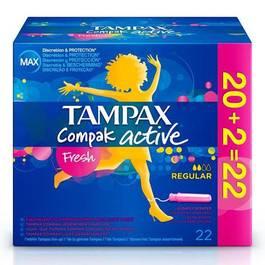 Tampax tampons compak active fresh régulier x22