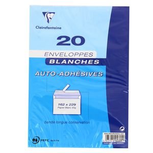 Clairefontaine 20 Envelooppes blanches auto-adhésives