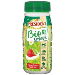 Président Crème liquide bio entière 30% M.G
