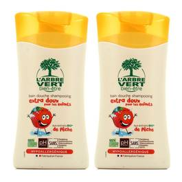 L'Arbre Vert Bien-Etre Bain douche shampooing enfant à la Pêche Bio