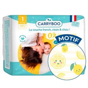 Carryboo Couches écologiques T1- 2/5KG - Single Dermo-sensitives