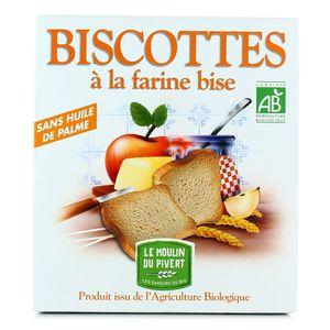 Biscottes à la farine bise,LE MOULIN DU PIVERT,270g