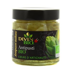 Divin Bio Antipasti bio coeurs d'artichauts