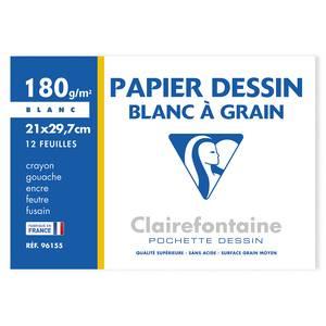 Clairefontaine Feuilles de dessin 21 x 29,7 cm 180g