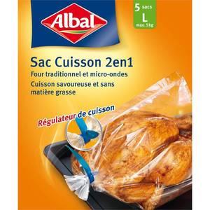 Albal Sacs cuisson 2 en 1 avec régulateur de cuisson