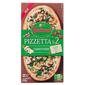 Buitoni Pizzetta 2 Mini Pizzas Forestière- Pizzetta Champignons, Lardons et Epinards