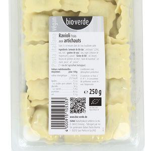 BioVerde Ravioli frais bio artichauts, végan