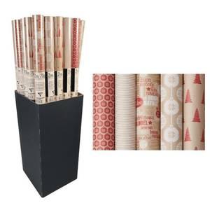 Clairefontaine Un rouleau de papier cadeaux Kraft Noël Tradition
