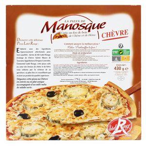 La Pizza De Manosque Pizza chèvre Label Rouge cuite au feu de bois de Chêne et de Hêtre