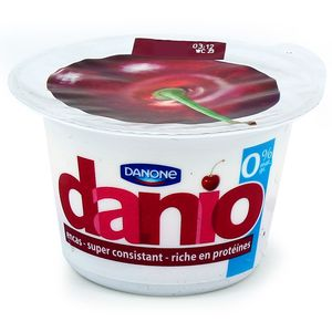 Spécialité laitière 0% sur lit de cerises - Danio