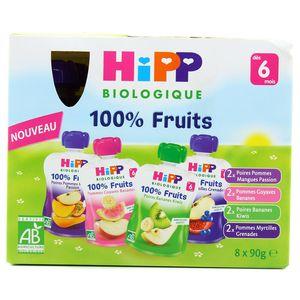 Hipp Gourdes Multipack 4 variétés bio dès 6 mois