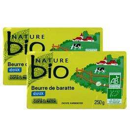 Nature Bio Beurre bio doux de baratte
