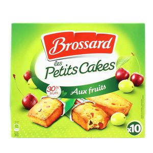 Brossard Mini cakes aux fruits, 10 cakes