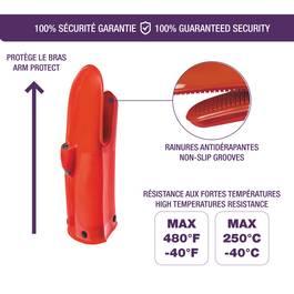 Mastrad Gant silicone et textile Rouge