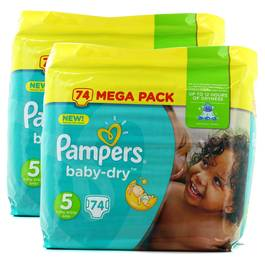 Pampers Babydry Couches T5 11/25kg - Format Mega junior