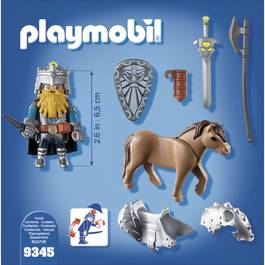 PLAYMOBIL® Knights Combattant nain et poney