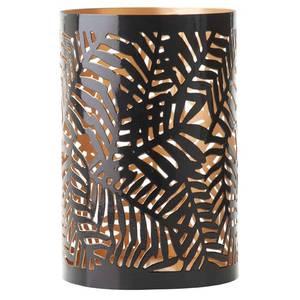Devineau Photophore tropical métal noir intérieur or