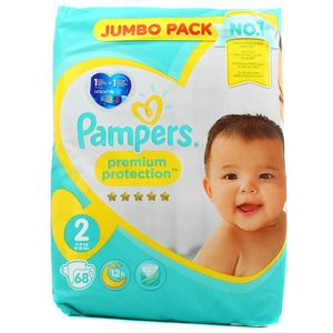 Pampers Premium protection Couches T2 - 4/8 kg - Format Jumbo