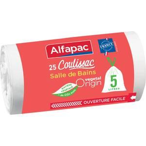 Alfapac Sacs poubelle 5L salle de bains coulissac vegetal origin