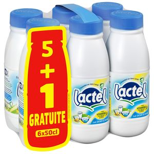 Lactel 1/2 écrémé bouteille 6x50cl