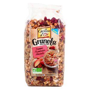 Grillon Or Granola pomme framboise amande bio