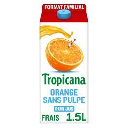 Tropicana Jus d'oranges sans pulpe