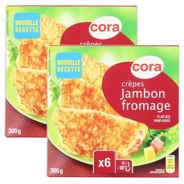 Cora 12 Crêpes jambon - fromage