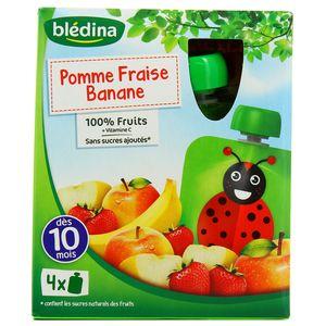 Blédina Gourdes pomme fraise banane dès 10 mois