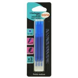 Cora Recharges d'encre bleue pour stylo thermosensible