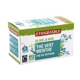 Ethiquable Thé vert menthe, bio