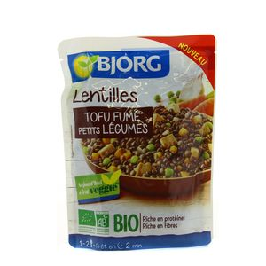 Bjorg Lentilles tofu fumé petits légumes Bio