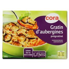 Cora Gratin d'aubergines prégratiné