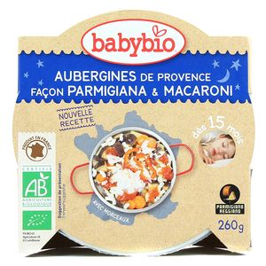 Babybio Aubergines de Provence façon Parmigiana et macaroni bio, dès 15 mois