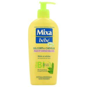 Mixa Bébé Gel corps et cheveux Bio à l'aloé vera très doux