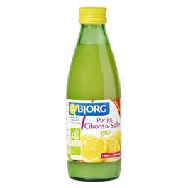 Bjorg Pur jus citrons de Sicile Bio