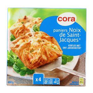 Cora 4 Paniers feuilletés aux noix de Saint Jacques 4x100g
