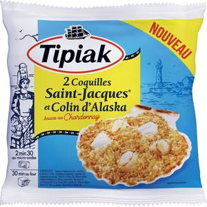 Tipiak 2 Coquilles Saint Jacques, colin d'Alaska et sauce au Chardonnay