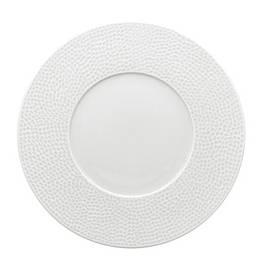 Reception Lot de 4 assiettes plates porcelaine MARTELE BLANC